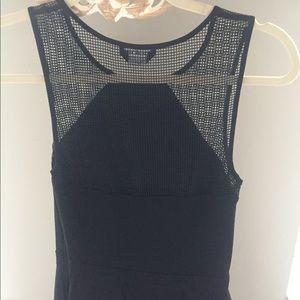 Bebe bla Mack mesh top/ flowy skirt size xxs
